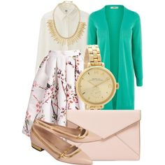 A fashion look from February 2015 featuring Uniqlo blouses, Oasis cardigans and De Siena flats. Browse and shop related looks.