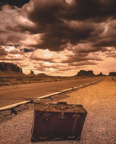 Now offers roadside assistance. Yet another epic shot by the one and only @tonydetroit  #UtahIsRad #Suitcase #Luggage #BetterWithAge #LeatherGoods #SaddlebackLeather