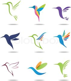 Stock vector of 'Vector illustration of Hummingbird logo'