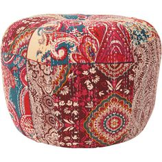 Whether topped with a tray of dry martinis or offering a convenient seat for impromptu entertaining, this lovely ottoman lends a touch of boho-chic style to ...