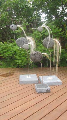 kunigunde gartenfigur und gartendeko als steinvogel aus edelstahl und stein gr e x ca 120 cm. Black Bedroom Furniture Sets. Home Design Ideas