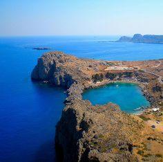 St'Pauls bayLindos -  Rhodes island Greece