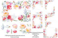 Watercolor DIY roses