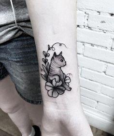 Cute cat wrist tattoo - 100+ Examples of Cute Cat Tattoo