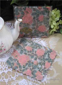 Victorian Roses Japanese Rice Paper Napkins