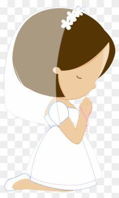 Communion Prayer, First Communion Decorations, Angel Illustration, Holy Communion Invitations, Bible Illustrations, Catholic Art, Woman Drawing, Bible Art, Cute Little Girls