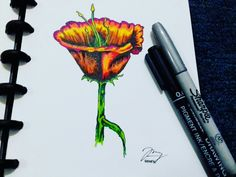 #flower #art #sharpie #marker #drawing
