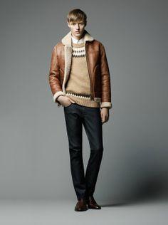 Men's winter fashion pilot style retro Italy sheepsking genuine leather fur wool lining jacket coat outerwear free shipping $1,480.00