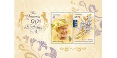 Australia post issued two stamps as a part of Queen's Birthday stamp issue to celebrates the 90th birthday of Her Majesty Queen Elizabeth II.