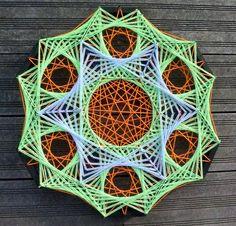 String Art Hexa-Flower par DeRevesEnReves sur Etsy