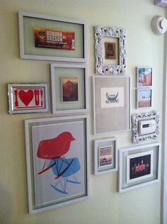 Eclectic Art Gallery Wall and house tour filled with tons of DIY ideas