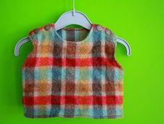 Fabrik der Träume: Kostenloses Schnittmuster: Kleinkind-Weste mit Schulterknöpfen Größe 62