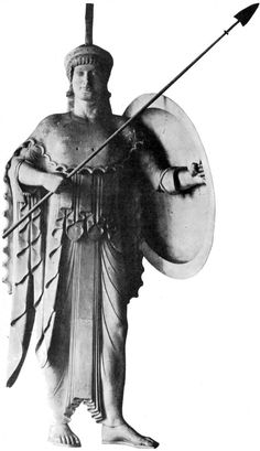 The warrior Athena - sculpture from the Temple of Aegina, circa - 550 BC, now Munich museum
