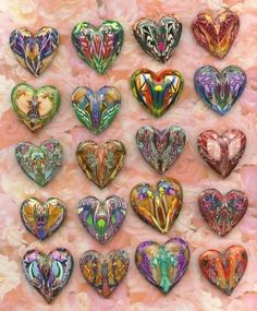 Tutorial for making beautiful hearts with scrap polymer clay