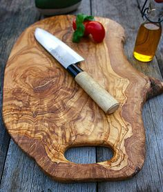 large olive wood cutting board