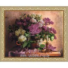 Где купить m205 набор для вышивки rto сирень и тюльпаны живые цветы оптом доскино