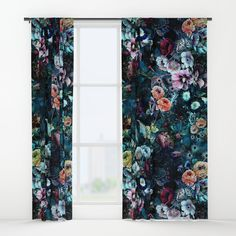 Night Garden Window Curtains by rizapeker