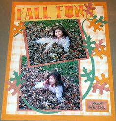 Fall Fun scrapbook layout