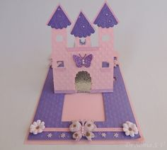 Itsy Bitsy - The Blog place: Castle Shaped Pop up Slider Card Tutorial by Dr Sonia