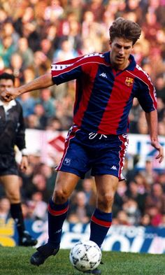 Michael Laudrup.                                               The greate dane in Barcas uniform!  We still are proud of him!