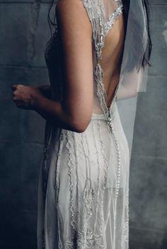 Keyhole wedding dress by Gwendolynne