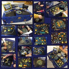 Starry Night Transient Art (from Stimulating Learning with Rachel) Preschool Art Projects, Preschool Themes, Classroom Activities, Science Activities, Starry Night Art, Inspiration For Kids, Day For Night, Night Skies, Van Gogh