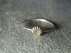 Silver Seashell Ring, Sterling Silver Ring, Hammered Silver, Handforged Ring, Seaside Ring, Beach Ring. $17.00, via Etsy.
