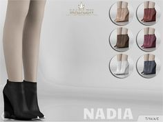 The Sims Resource: Madlen Nadia Boots by MJ95 • Sims 4 Downloads