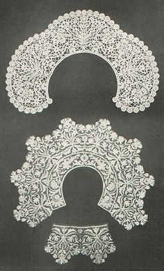 Lace designs by Angyal Bela, produced in 1902.