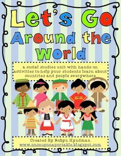 Let's Go Around the World! {a whole year of social studies} Craftivities, games, art projects and more to help you learn about the holidays and celebrations in 20 different countries.