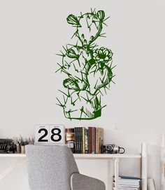 Cactus Designed Wall Stickers