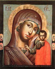 Казанская, с избранными святыми