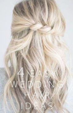 4 einfache Hochzeit Haar Ideen - Destination Wedding - Make Up For Beginners - Leather Jewelry DIY - DIY Wedding Hair Styles - DIY Kitchen Ideas Easy Hairstyles For Medium Hair, Wedding Hairstyles For Long Hair, Diy Hairstyles, Bridal Hairstyles, Hairstyle Ideas, Updo Hairstyle, Celebrity Hairstyles, Pretty Hairstyles, Twisted Hairstyles