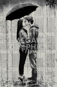 View LOUI JOVER's Artwork on Saatchi Art. Find art for sale at great prices from artists including Paintings, Photography, Sculpture, and Prints by Top Emerging Artists like LOUI JOVER. Couple Drawings, Love Drawings, Art Drawings, Arte Black, Newspaper Art, Kiss Art, Poster Boys, Old Book Pages, Art Graphique