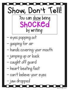 I can use this to help my students write with more expression and how to show action in their writings. Can be posted along the walls or turned into a little book the students can keep at their desks. Creative Writing Tips, Book Writing Tips, Narrative Writing, Writing Words, Writing Lessons, Writing Resources, Teaching Writing, Writing Prompts, Writing Journals