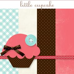 Pumpkins & Posies free digi scrap kits -Little Cupcake Preview Image