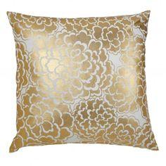 Caitlin Wilson Textiles: Gold Fleur Pillow