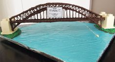 Sydney harbour bridge made out of chocolate. What's not to like.