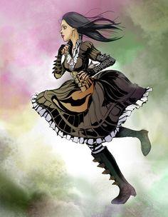 "Alice Madness Returns by ~owncham on deviantART___Steampunk ""Hatter's Domain"" dress"