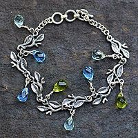 Sterling silver charm bracelet, 'Rainforest'    Novica
