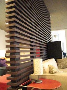 Pareti in legno - Parete divisoria in legno moderna