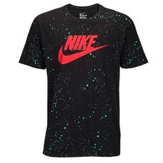Nike Graphic T-Shirt, men's Black/Emerald/Red