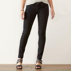 Women's SONOMA Goods for Life™ Faded Skinny Jeans, Size: 8 - regular, Black