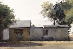 Pima -Maricopa Reservation Dwellings _ watercolor 20 x30_54273784