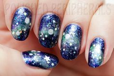 Polished Peripherals: Galaxy nail art