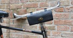 Fahrradtasche klein schwarz Lenkertasche Satteltasche Leder Werkzeugtasche