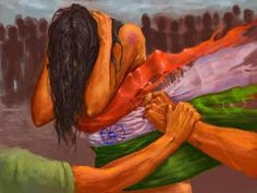 Rape is the fourth most common crime against women in India.According to the National Crime Records Bureau (NCRB) 2013 annual report, rape cases were reported across India in of these, were committed by someone known to the victim of the cases). Indian Flag, Indian Art, Composition Painting, Drawing Competition, Indian Pictures, God Pictures, Flag Art, Art Competitions, Girl Sketch