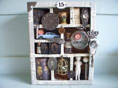 Configurations Shadow Box....a Tim Holtz Inspiration - very cool!
