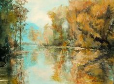 landscape paintings in acrylic | ... on Reflections, Acrylic landscape painting | Flickr - Photo Sharing