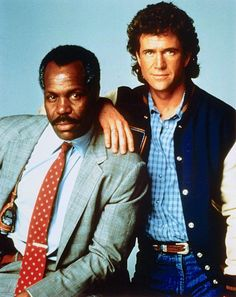 Danny Glover as Detective Sgt Roger Murtaugh & Mel Gibson as Detective Sgt Martin Riggs in Lethal Weapon 1987